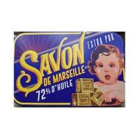 Savon de Marseille Artisanal en Boite Métal Vintage Lavande 100 gr