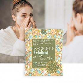 Découvrez cette savonnette exfoliante originale et éliminez les cellules mortes de votre peau en douceur ..