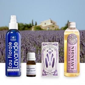 Découvrez cette sélection de cosmétiques de soins aux doux parfums de lavande