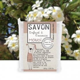 Handmade Accacia Monoï infused soap 3,52 oz