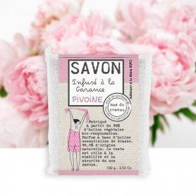 Savon Pivoine infusé à la Garance 100 gr